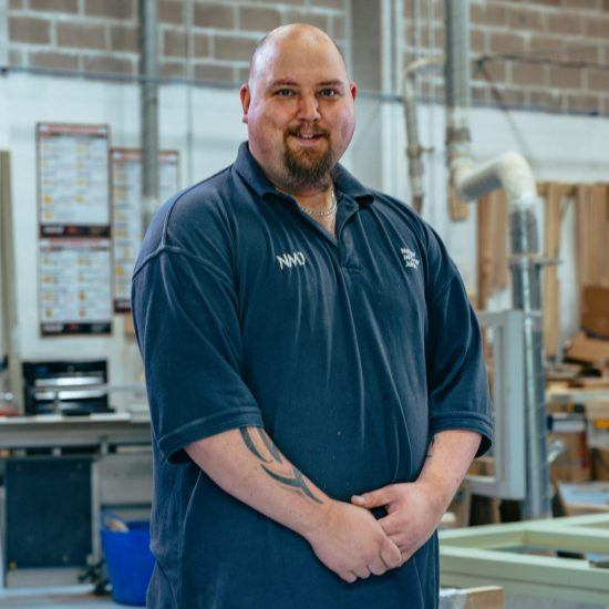 Dan Gilbury Production Manager, Machinist and Sprayer for Nathan McCarter Joinery
