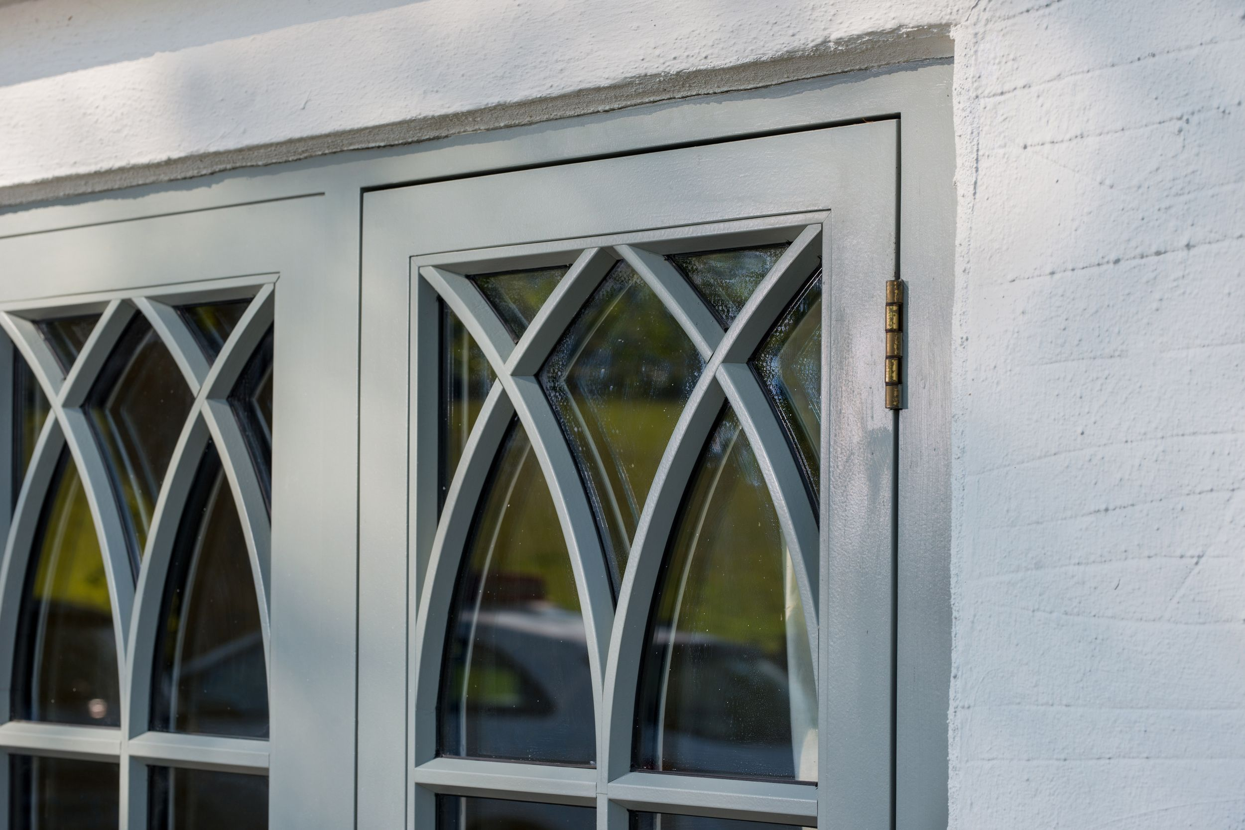 detailed timber window view