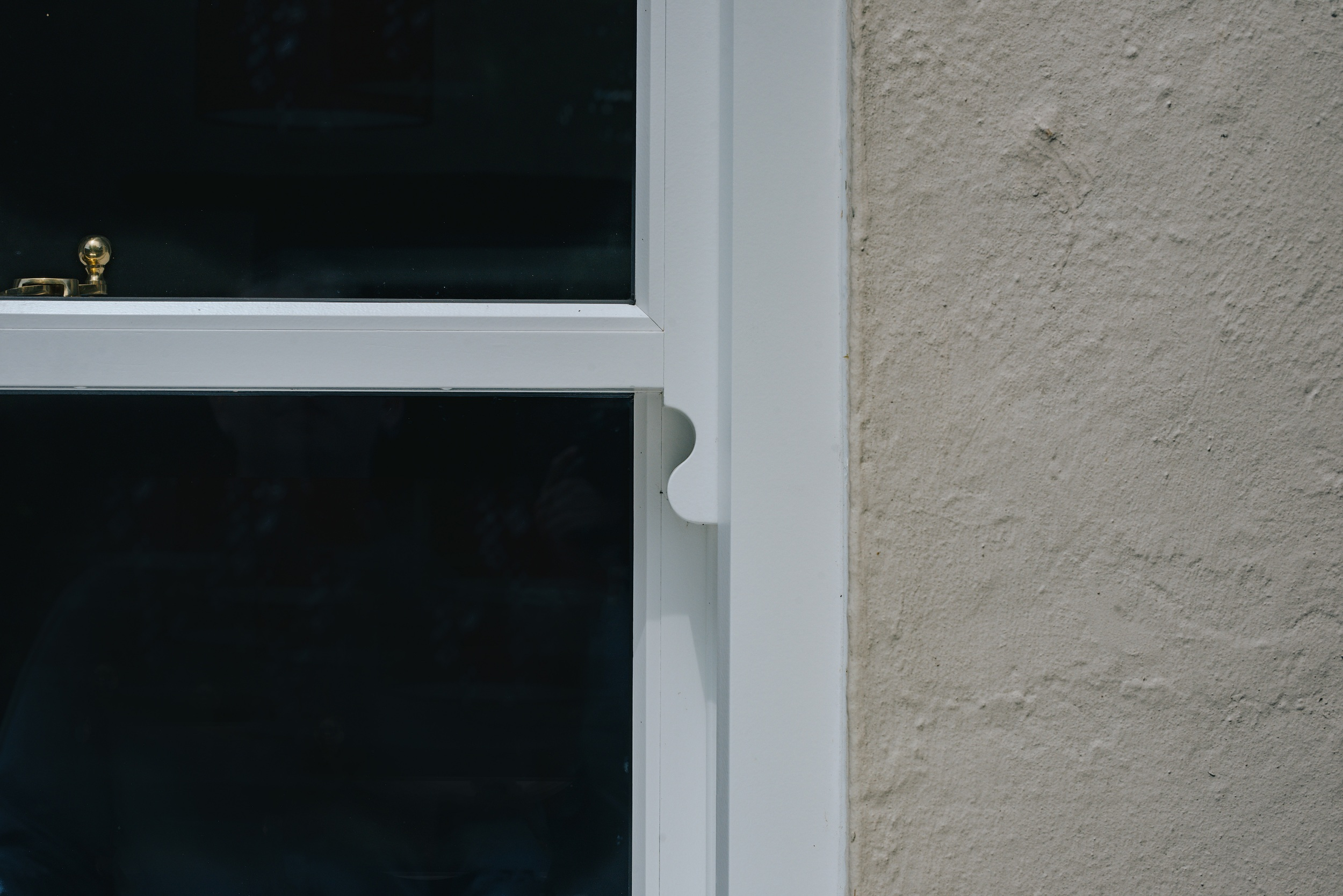 close up view timber sliding sash windows