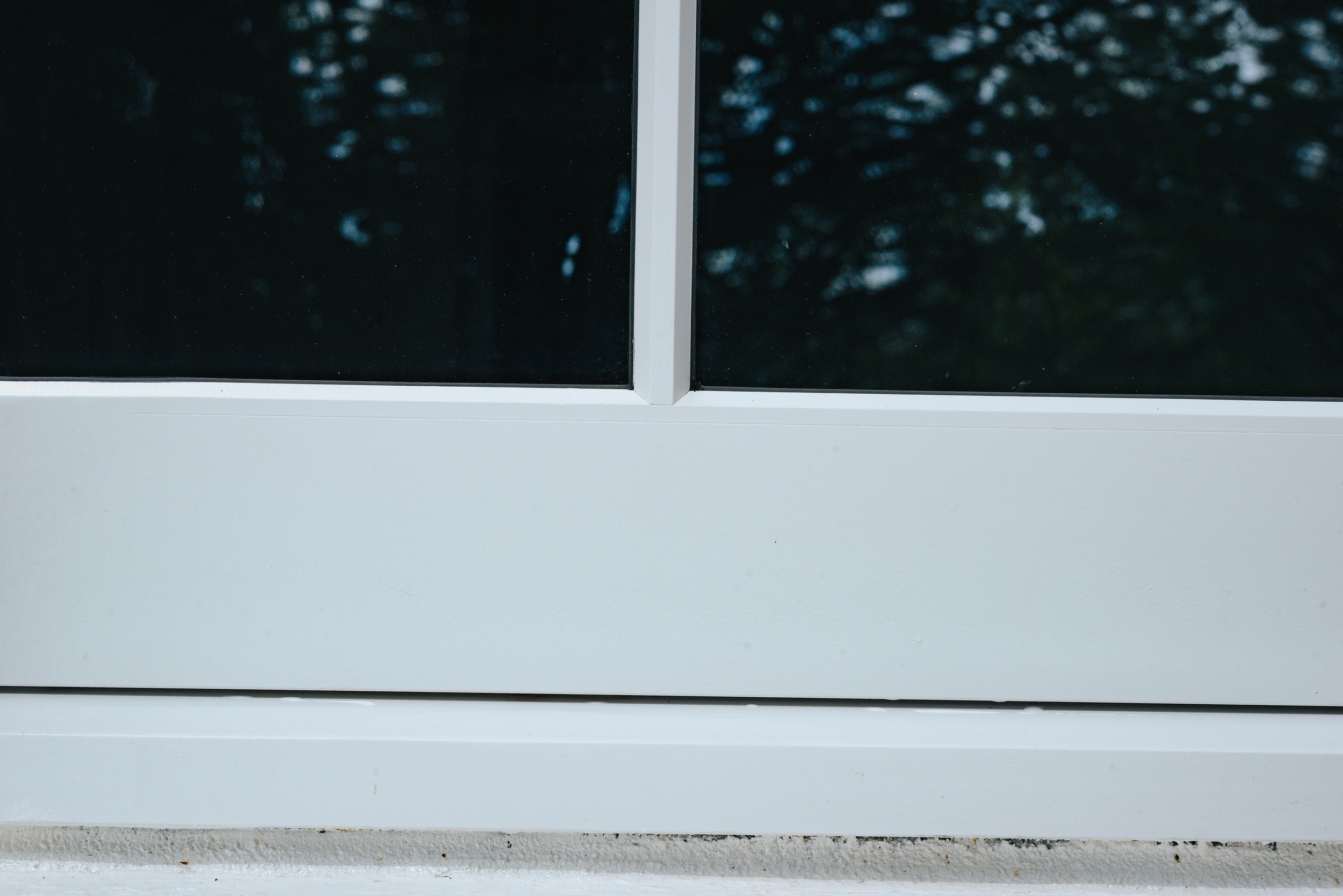 close up view of sliding sash wooden window