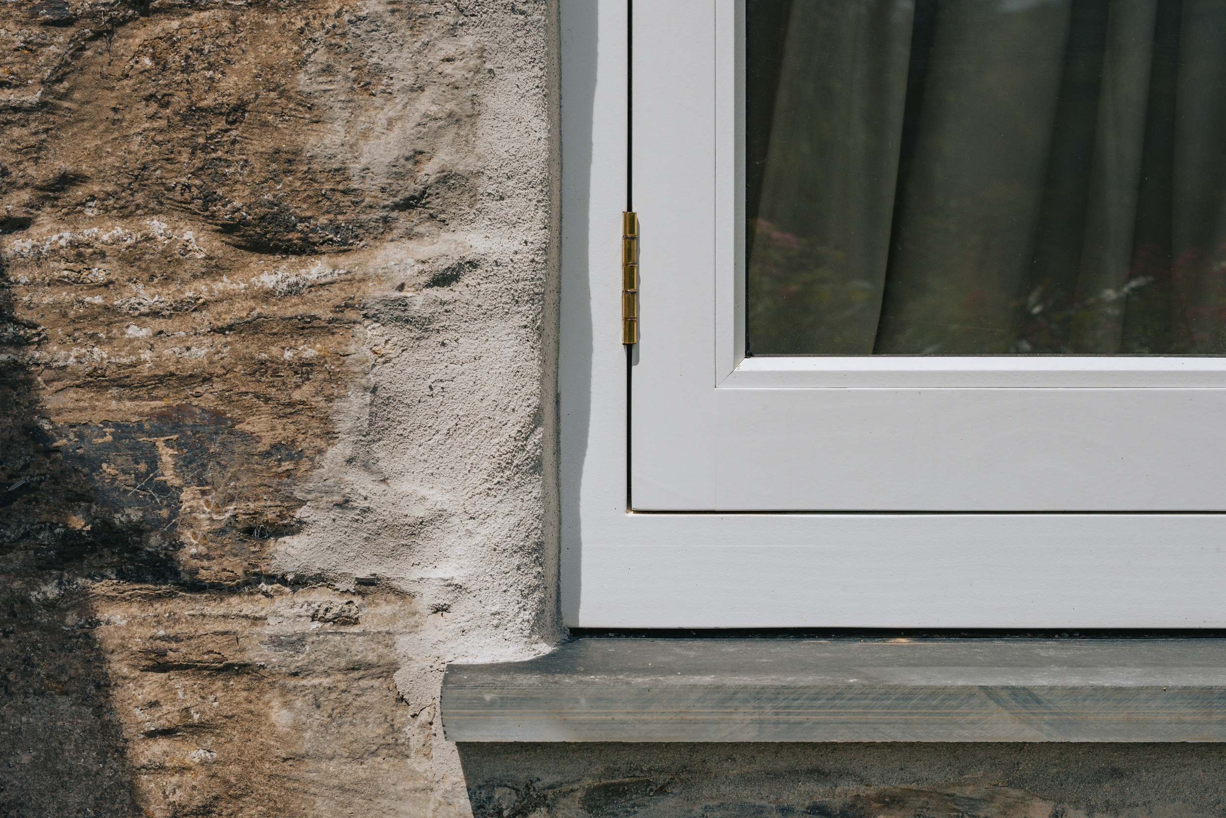 close up shot of flush casement timber window