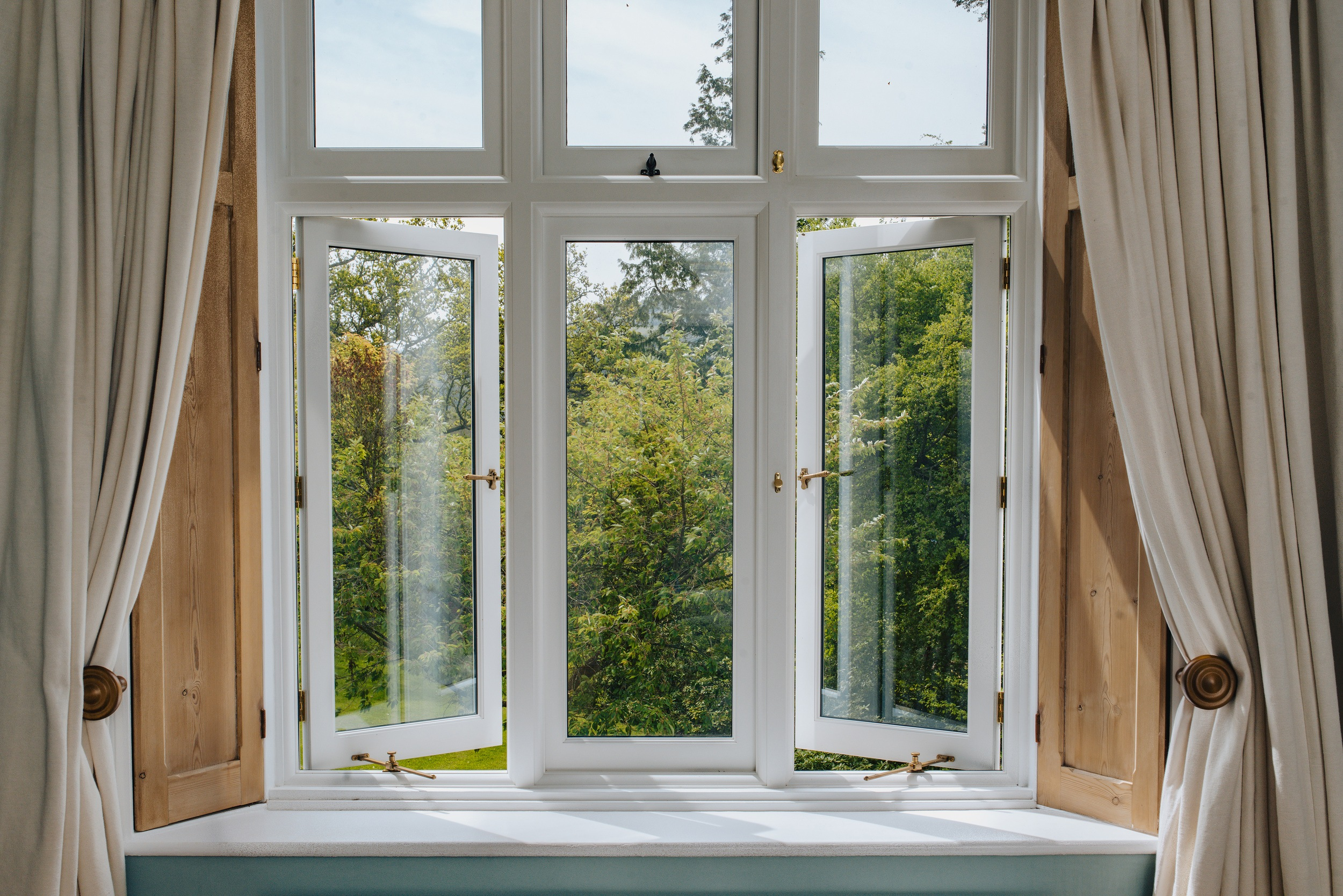 inside view of timber windows and doors