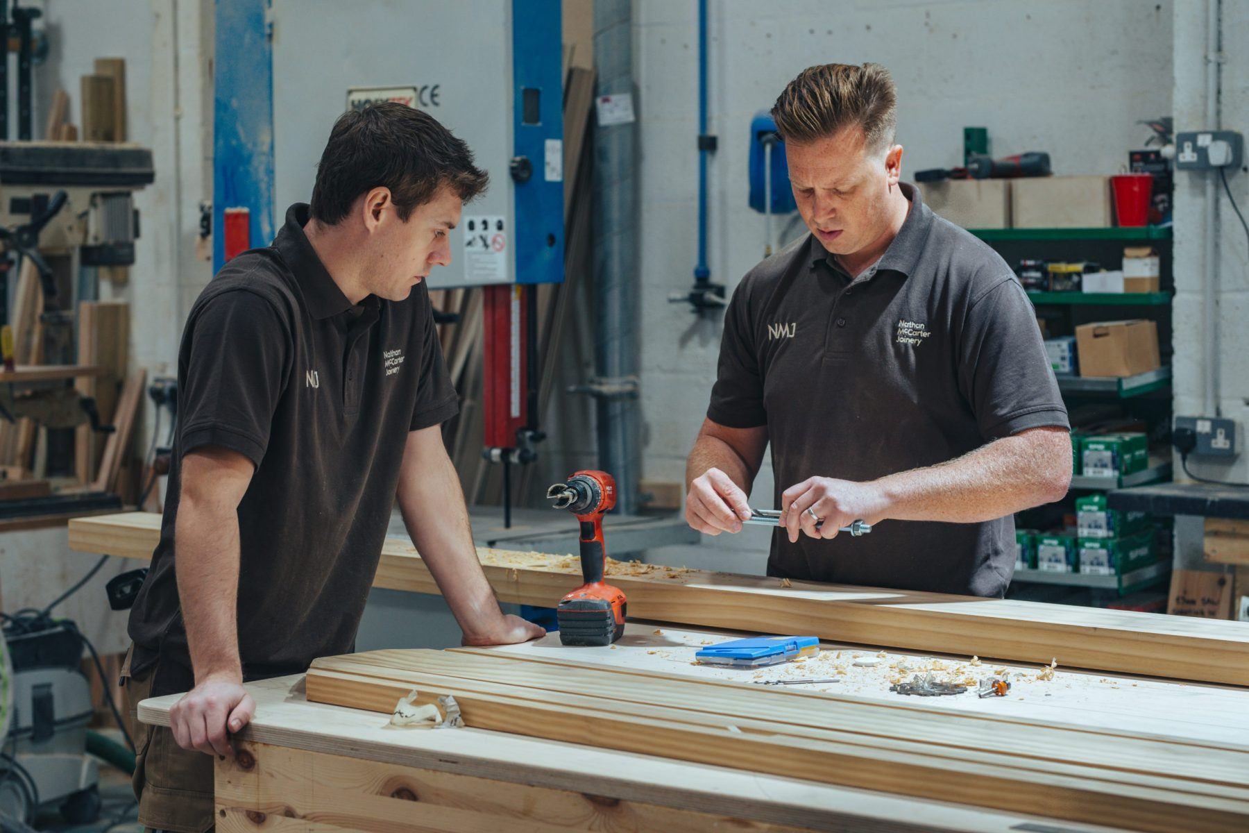 Nathan McCarter Joinery workshop action