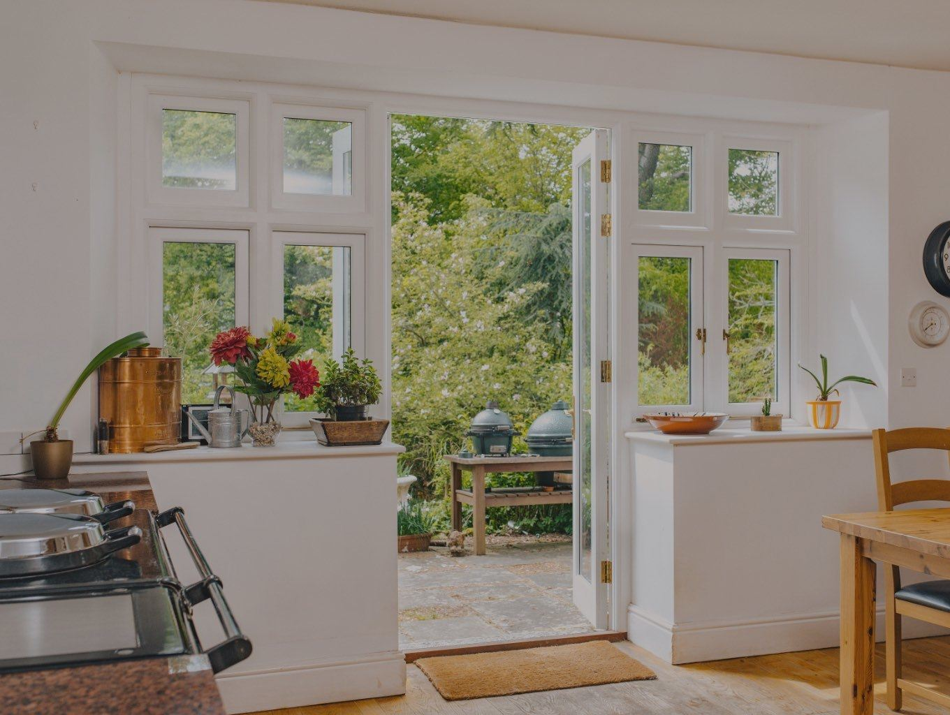internal view of bespoke timber windows