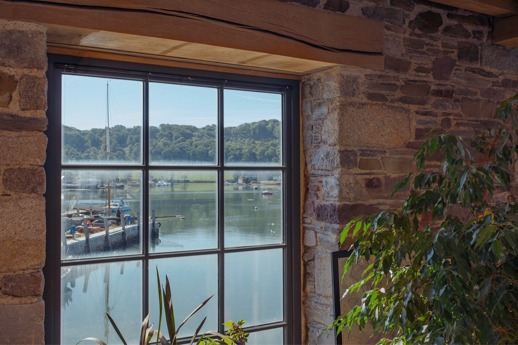 bespoke timber window by the sea