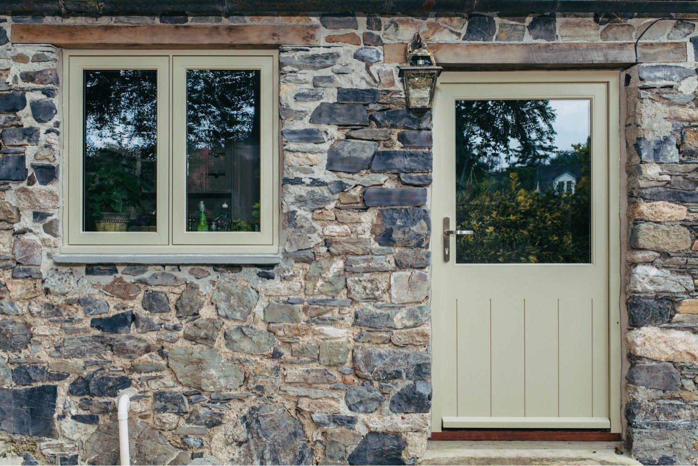 cottage timber window and door